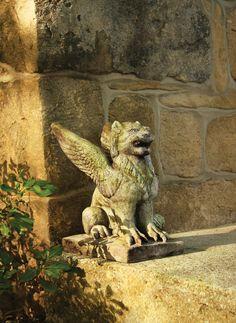 OrlandiStatuary Gargoyles Big Mouth Griffin Statue