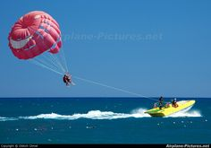 Parasailing was a wonderful adventure where in you could feel like a bird flying above the vast ocean.