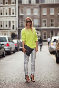 Lime sweater and Silver