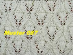 Muster 087*Stricken lernen* Muster für Pullover Strickjacke Mütze Stirnband - YouTube