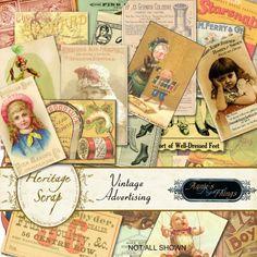 Vintage Advertising - Embellishments by Annie's Digital Things