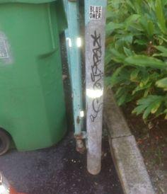 #graffiti #graff #graffitiart #tag #hawaii #oahu #honolulu #pole #green #black