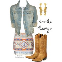 Smile Always. Fun and funky cowgirl styled by Cassidy Magazine