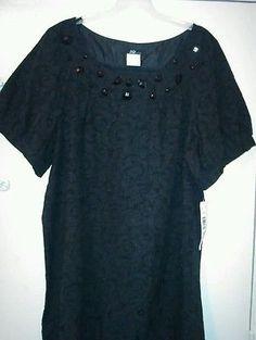 NEW Jump Apparel Size 24W black dress