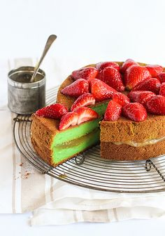 Oh my! This cake looks amazing! I would love to try this  cross between a cheesecake and sponge cake. Not to mention the unusual Asian flavors that are in it!