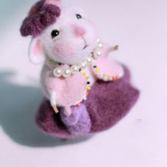 Needle Felted Felting project wool Animals Cute Mouse Grandma | Feltify