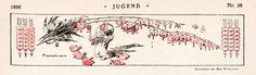 Max Wislecenus. Frauenherzen (Bleeding Hearts). Jugend: Münchner illustrierte Wochenschrift für Kunst und Leben 1.1896, Band 2 (Nr. 27-52)