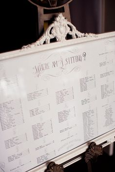 #classy #table seating chart