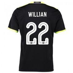 Chelsea 16-17 Willian Borges da Silva 22 Bortatröja Kortärmad   Fotbollströjor dd1e8795fdbfd