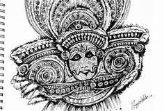 Theyyam pen work