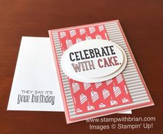 Party with Cake, Cherry on Top Designer Series Paper Stack, Stampin' Up!, Brian King, PPA285