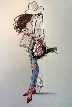 @karenorrillustration| Be Inspirational❥|Mz. Manerz: Being well dressed is a beautiful form of confidence, happiness & politeness