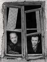 Jacko Vassilev: Two Vlademirs at the Window, Village Rakovitca, Bulgaria, 1992