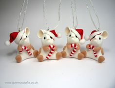 Little Christmas Candy Cane Mouse Tree Decoration (£20)