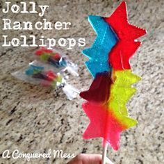 A Conquered Mess: DIY Jolly Rancher Lollipops