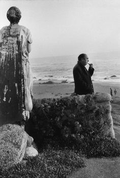 """2000-lightyearsfromhome:Sergio Larrain CHILE. The """"Isla Negra"""" house. 1957. Photographs taken in the Valparaíso Region, on the Pacific Coast, inside and around the house of the Chilean poet Pablo NERUDA."""
