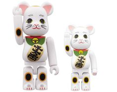 Medicom Toy releases another Bearbrick, this time in the form of the Maneki Neko, a traditional Japanese sculpture of a cat believed to bring good luck to its owner. Red Cat, Pink Cat, Lucky Fortune, Japanese Bobtail, Bobtail Cat, Bear Character, Maneki Neko, Cat Art, Kitty