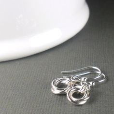 Small Love Knot Sterling Silver Earring, Mobius Flower Earring, Sterling Silver Chainmaille Earrings, Dainty Earring, Everyday Jewellery on Etsy, $19.39