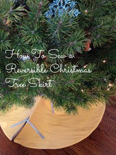 How To Sew a Reversible Christmas Tree Skirt — Apartment Therapy Tutorials