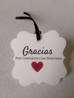 20 Gracias Favor Tags Thank You Wedding Anniversary Shower Spanish