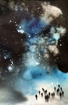 Michelle Blade 'Into the Starry Sky', 2013, Acrylic ink on paper, 11 x 17 inches