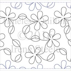 Daisy Walk Paper Machine Quilting Pattern by Timeless Quilting