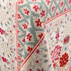 Rocat   Color: Mint/Red - La Tavola Fine Linen