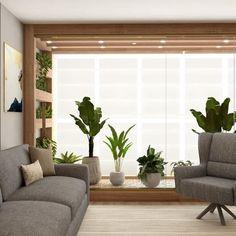 Jardim de inverno na sala: 50 ideias para você se inspirar Home Design Decor, House Design, Home Decor, Interior Garden, Apartment Interior Design, Living Room Designs, Living Room Decor, Small Balcony Decor, Villa