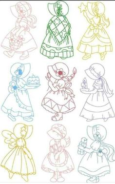 Purrfect Stitchers (Search results for: sunbonnet sue) Vintage Embroidery, Embroidery Applique, Cross Stitch Embroidery, Machine Embroidery Designs, Embroidery Sampler, Cross Stitches, Sunbonnet Sue, Applique Patterns, Applique Quilts