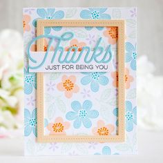 Join us in this week's @mftstamps Wednesday Sketch Challenge 297! Sharing a…  Bold blooms Thanks