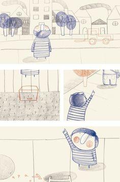 ¿Y ESTO QUÉ ES?  Esta es una historia ilustrada que trata de la curiosidad de un niño por conocer lo que hay fuera de su casa. Cuando logra salir se encuentra con una enorme ciudad llena de cosas que nunca había visto antes.
