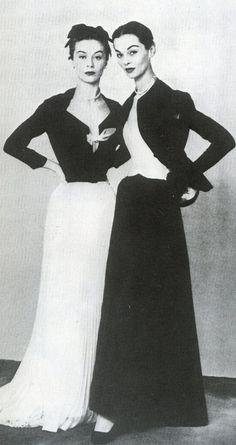 Dior's elegant evening suits, photo Arik Nepo 1951