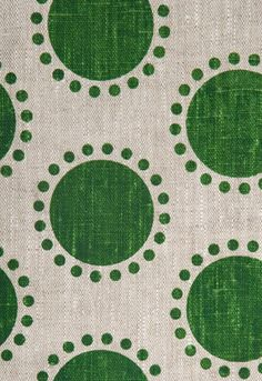 What if this was a pale blue with darker blue circles and then grey dots around it and then another panel pale grey with  blue with Green dots around the circles.????Studio Bon Oompa in Stem....love!...pinned by Liberhada ♥