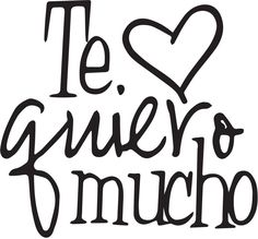 Spanish Wall Saying Quotes- Te quiero mucho Wall Quote-home & Art Wall Decor