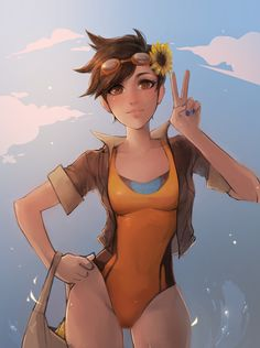 Overwatch - Tracer's Summerday