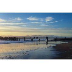 Lhiver arrive. #sunset #vendée #saintjeandemonts #atlanticocean #pier #sky #blue #cold