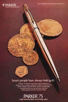 1975 Advertisement for Parker Pens