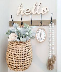 Art Craft Store, Craft Stores, Hobby Lobby Decor, Hobby Lobby Crafts, Farmhouse Chic, Target Farmhouse, Home Upgrades, Basket Decoration, Beaded Garland