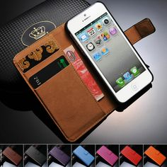 Genuine Leather Coque Case For iPhone 5 5S SE Wallet Stand With Card Holder Flip Phone Back Cover For i Phone 5 5S Cases Casing #>=#>=#>=#>=#> Click on the pin to check out discount price, color, size, shipping, etc. Save and like it!