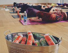 #Yoga + @wtrmlnwtr. The sweetest shavasana. #BevForce #