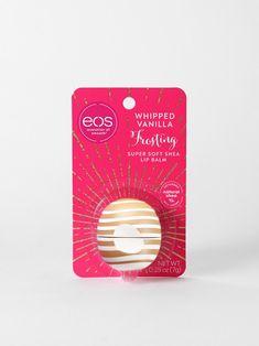 Eos Lip Balm, Lip Balms, Lip Balm Brands, Peach Lips, Strawberry Sorbet, Organic Lip Balm, Peppermint Leaves, Vanilla Frosting, Accessories