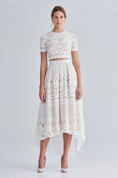 modern bridal separates - Lover White Magick Part 5 | crop top wedding dress