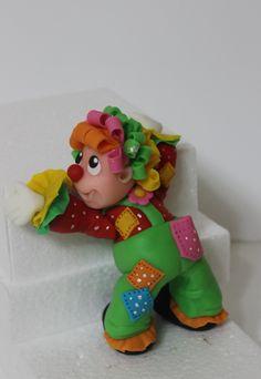 Cute little clown - Fondant Idea