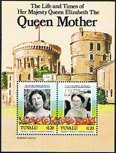 Tuvalu Queen Mother Life and Times Miniature Sheet Fine Mint SG 342 Scott 319 Queen Mothers 85th Birthday Other Tristan Da Cunha Stamps HERE
