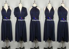 Midnight Blue Navy Blue Bridesmaid Dress by Dresslongbridal