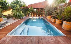 skimmerový bazén, nerezový bazén, odpočinkové schodiště, odpočívadlo, privátní bazén, zahrada, terasa Mendoza, Outdoor Decor, Room, Home Decor, Bedroom, Decoration Home, Room Decor, Rooms, Home Interior Design