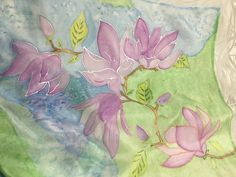 Magnolias, Silk Painting, Hand Painted, Etsy, Art, Magnolia Trees, Art Background, Kunst, Performing Arts