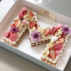 😍 Do you know how to make Number cake?🤗 - Start to bake with All number cakes… Nake Cake, Alphabet Cake, Cake Lettering, Biscuit Cake, Number Cakes, Happy Birthday Cakes, Food Cakes, Beautiful Cakes, Cake Recipes