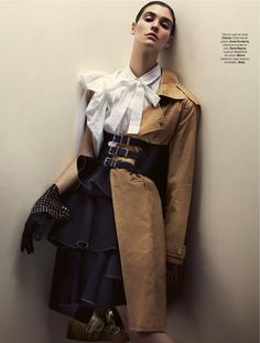 """Une Tenue Olé Olé"" | Model: Manon Leloup, Photographer: Toby Knott, Stylist Magazine, December 2014"