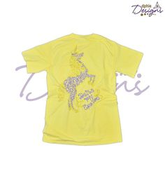 Are you ready for National Unicorn Day?? The DPhiE Designs Yellow Doodle Unicorn Pocket Tee is here to help
